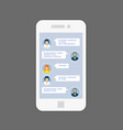 messaging interface - sms chat service on screen vector image vector image