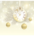 New year background with gold clock vector image vector image
