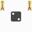 One dices - side with 2 vector image vector image