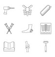 orthopedic surgery icon set outline style vector image vector image