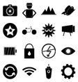 Photography icons on white background vector image vector image
