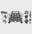 retro custom car vintage monochrome concept vector image vector image