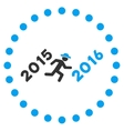 Run To 2016 Year Icon vector image vector image