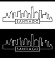 santiago skyline linear style editable file vector image vector image