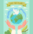 save planet concept vector image