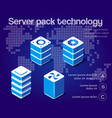 server network technology vector image vector image
