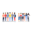 set of a group of different men and women cartoon vector image