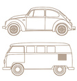Set of cars vector image