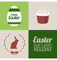 set of Easter decorative elements and label vector image