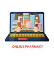 shopping online banner pharmacy background vector image