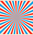 sunbeams background red and blue sun rays vector image