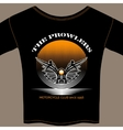 T-shirt template for motorcycle club member vector image vector image
