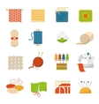 Textile Industry Icons vector image vector image