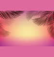 tropical beach with sea and sand with vector image