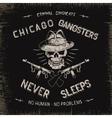 Vintage label with gangster