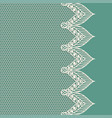 vintage lacy border on blue background vector image