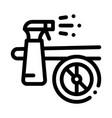 wash spray plane icon outline vector image vector image