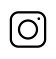 web icon modern lineart camera vector image vector image