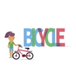 Young girl with bicycle vector image vector image