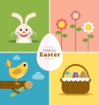 Happy Easter Set vector image