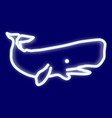 the image of a whale vector image