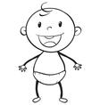 a baby sketch vector image vector image