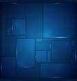 abstract of blue square pattern geometric vector image vector image