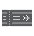 airport ticket glyph icon travel and tourism vector image vector image