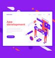 app development teamwork people and interact vector image vector image