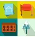 Architecture banners set flat style vector image vector image