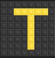 blocks in english capital letter t alphabet set vector image
