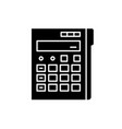 calculator black icon sign on isolated vector image