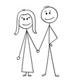 cartoon of happy couple vector image vector image
