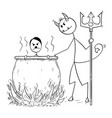 cartoon sinner german nazi adolf hitler boiled vector image