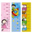 Children height meter vector image vector image
