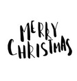 christmas hand lettering signature vector image vector image