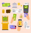 collection finance workflow items and elements vector image vector image