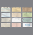 collection various note papers vector image