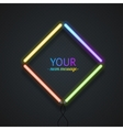 Colorful Neon Frame vector image