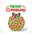 creative merry Christmas ball design vector image