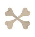 crossed bones death flat icon style vector image