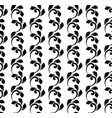 decorative pattern black and white vector image