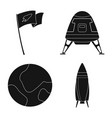 design of mars and space sign collection vector image vector image
