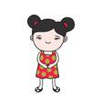 doodle girl vector image