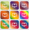 Download Load Backup icon Nine buttons with bright vector image