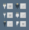 electric plugs stack outlet energy vector image vector image