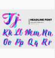 expressive decorative typography display type vector image vector image