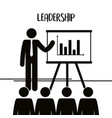 figure businessman with paperboard training vector image