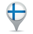 finland flag pointer vector image vector image