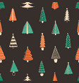 fir trees seamless pattern hand drawn vector image vector image